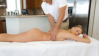 Emma Hix gets a massage with an increment of cock
