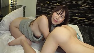 Asian full-grown likes to lick