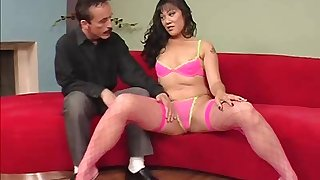 Mya Minx is a nasty babe in a pink outfit who craves a fat dick