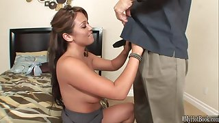 Mia Lelani is an intelligent brunette Latina, who knows exactly whet her horny