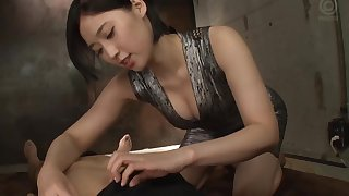 Natural boobs Asian model getting nasty facial cumshot