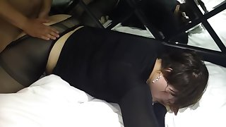 BBW sissy gets fucked and creampied wits 3 straight strangers