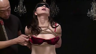 Tied up sex slave penetrated by her pussy craving master