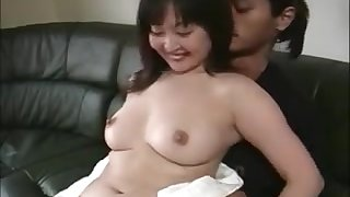 Horny housekeeper fucks husband until his wife is home