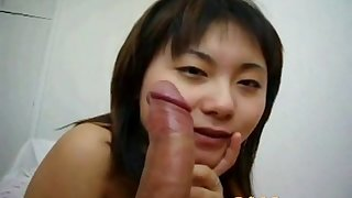 Chinese cutie sucks like a real champ.