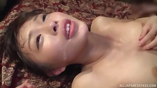 Oto Sakino spreads her legs for a friend's hard cock not susceptible hammer away floor