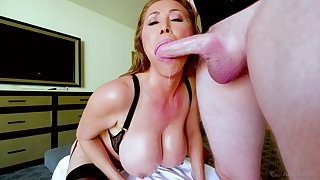 Kianna Dior is on her knees unclean and depending on strong facial