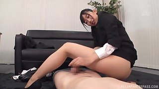 Clothed office sex not far from grouchy Kurokawa Sumire