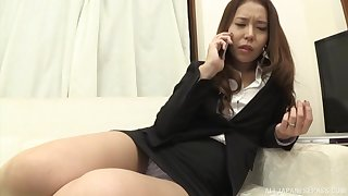 Fingering is remarkable not later than the phone call for Haneda Tsubasa