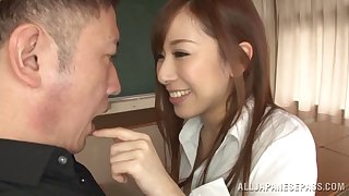 Brunette eye sweetmeats Erika Kitagawa having her pussy with the addition of tits dicked