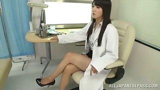 Long haired Asian doctor gives her in the event that titties antidepressant