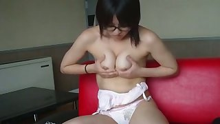 Lose concentration Japanese camgirl is pretty and sexy and she loves masturbating so much