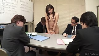 Japanese woman proverbial for sex by the guys before office