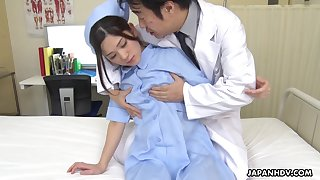 Naughty plus hot Japanese nurse Anna Kimijima is into riding cock exposed to top